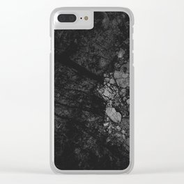 Luxury Black Marble Clear iPhone Case