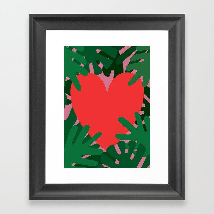 Wild Does My Love Grow Framed Art Print
