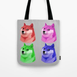 Doge in every color Tote Bag