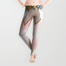 Marbled tropical geometric pattern I Leggings
