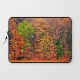 Autumnal forest watercolor painting  Laptop Sleeve