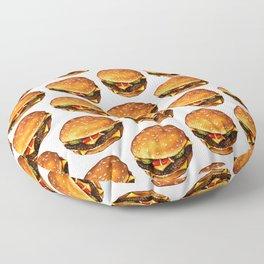 Cheeseburger Pattern 2 Floor Pillow