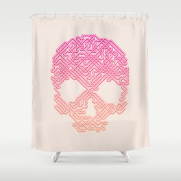 Labyrinthine Skull - Tropical Shower Curtain