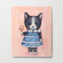 Kitty and Lolli Metal Print
