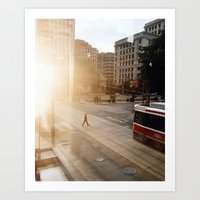 Streetcars and Sunsets Art Print