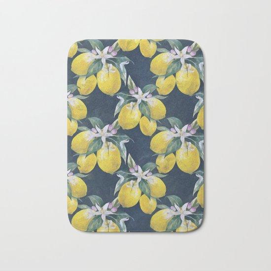Lemons pattern Bath Mat