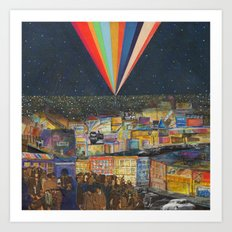 City at Night Art Print