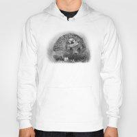 hedgehog Hoodies featuring Hedgehog by MARIA BOZINA - PRINT