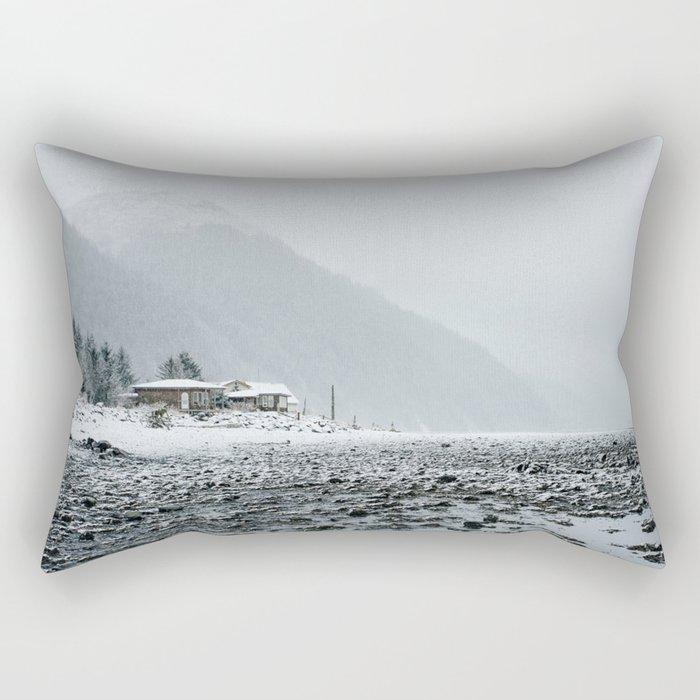 Snowy Valley Rectangular Pillow