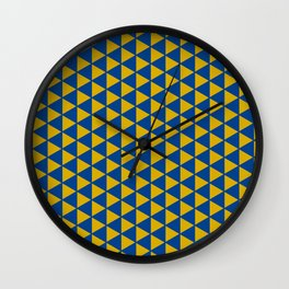Yellow with blue Wall Clock