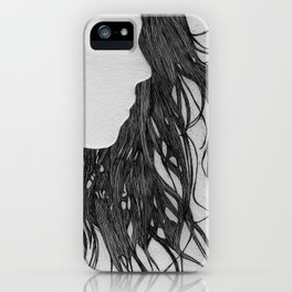 Hair in Profile iPhone Case