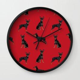 Miniature Doberman Pinscher dog breed pure breed unique pet gifts Wall Clock