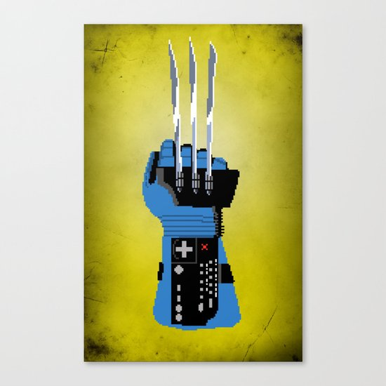 Power Glove Love: Wolverine Canvas Print
