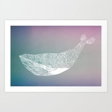 fogged film whale Art Print