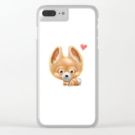 Super cute baby fox kawaii perfect for all animal lovers! Clear iPhone Case