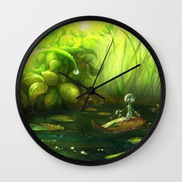 Rowing Down the River Wall Clock