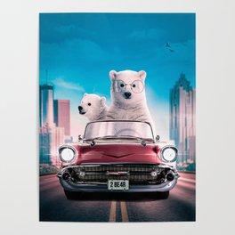 Driving Bear Poster