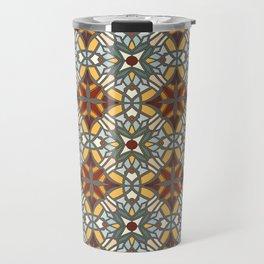 Abstract geometric retro seamless pattern Travel Mug