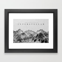 Interstellar Poster Framed Art Print