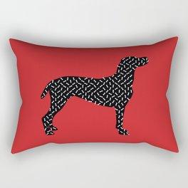 the greedy dog Rectangular Pillow