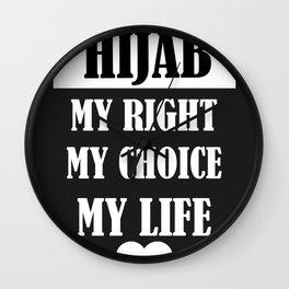 hijab love Wall Clock