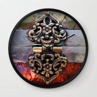 katniss Wall Clocks featuring Katniss by The Brass Clasp
