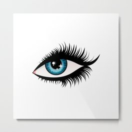 Blue fem eye Metal Print