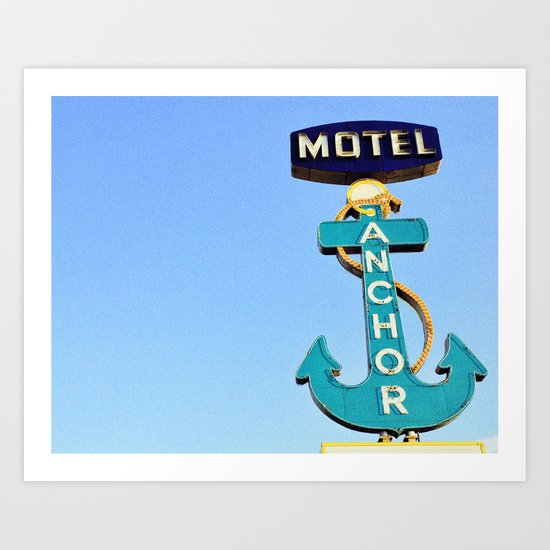 Anchor Motel Art Print