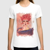coral T-shirts featuring Coral by Art of Sayler