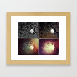 Clouds and Moon at Night Framed Art Print