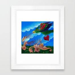 Flight of the wounded heart Framed Art Print