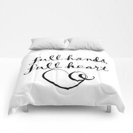 full hands, full heart Comforters