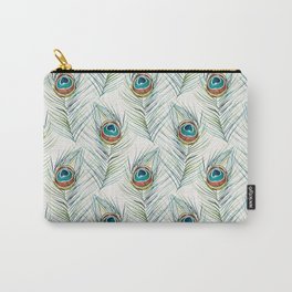 Peacock Tail Feather – Watercolor Carry-All Pouch