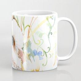 barn owl and flowers floral owl decor artwork Coffee Mug