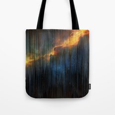 Planet Pixel Fall Down Tote Bag