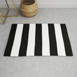 Big Lines Black and White Rug