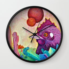 Activated Crystal Chicken Wall Clock