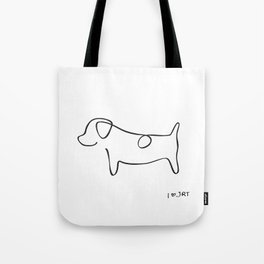 Abstract Jack Russell Terrier Dog Line Drawing Tote Bag