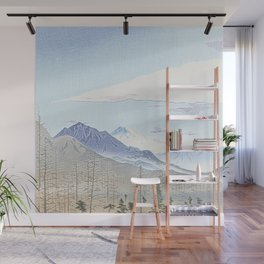 Mountains and firs - Fuji Wall Mural