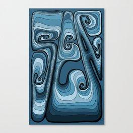 Sea Typography - Sailor Blue Canvas Print