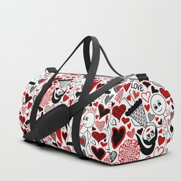Stick Figures in Love Duffle Bag