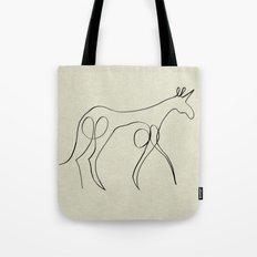 Continuous Line Unicorn Tote Bag