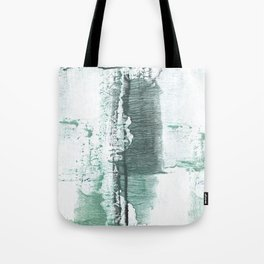 Gray green stained watercolor texture Tote Bag