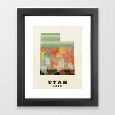 Utah state map modern Framed Art Print