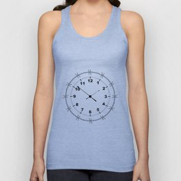 Barbed Wire Clock Unisex Tank Top
