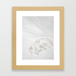 Pale Skull Framed Art Print