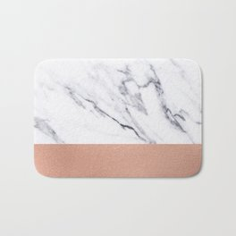 Marble Rose Gold Luxury iPhone Case and Throw Pillow Design Bath Mat