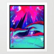 Glow grass Art Print