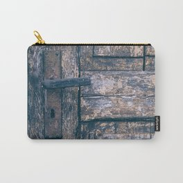 Weathered Wooden Door Carry-All Pouch