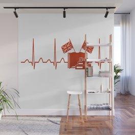 English Teacher Heartbeat Wall Mural